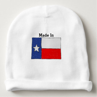 Made in Texas. Sketch of Texas Flag Baby Beanie