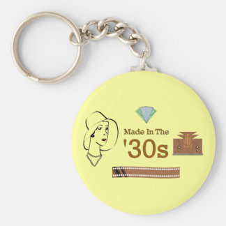 Made In The 30s Basic Round Button Key Ring