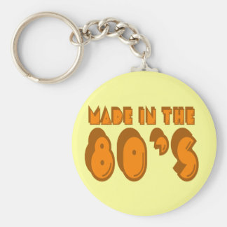 Made in the 80's basic round button key ring