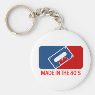 Made in the 80s basic round button key ring