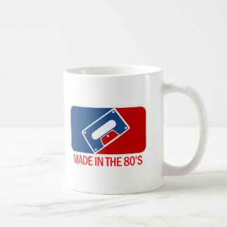 Made in the 80s classic white coffee mug
