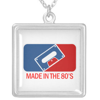Made in the 80s square pendant necklace
