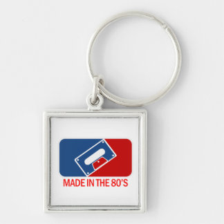 Made in the 80s Silver-Colored square key ring