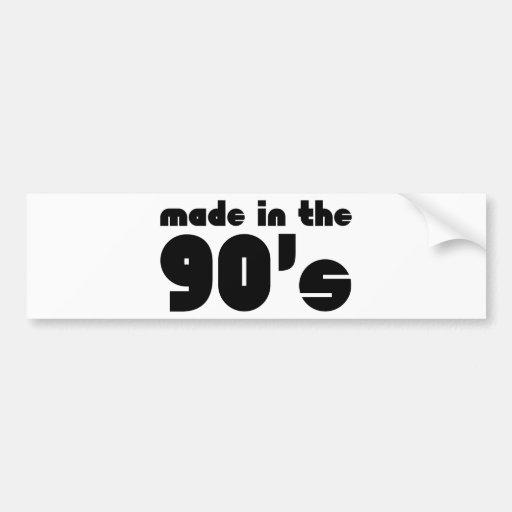Made In The 90's Bumper Sticker