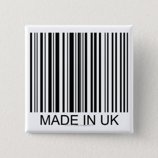 Made in the UK 15 Cm Square Badge