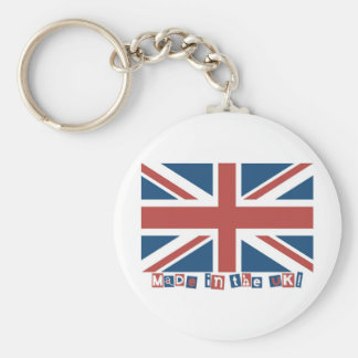 Made in the UK Basic Round Button Key Ring