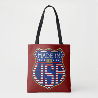 Made in the USA 4th of July Proud American Logo Tote Bag
