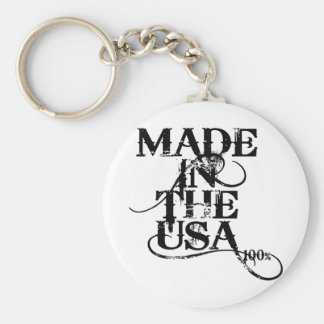Made In The USA Accessory Basic Round Button Key Ring