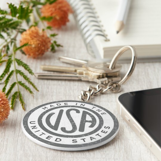 Made in the USA Basic Round Button Key Ring