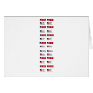 Made in the USA Bumper Sticker V2 Greeting Card