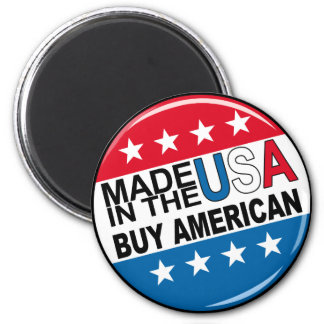 Made in the USA - Buy American 6 Cm Round Magnet