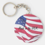 Made in the USA Flag Keychain