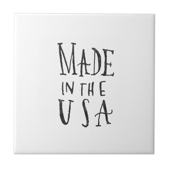 Made in the USA Small Square Tile