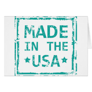 Made in the USA stamp Greeting Card