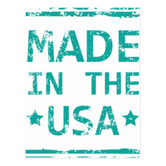 Made in the USA stamp Postcard