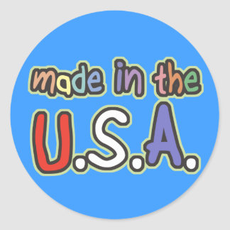 Made In the USA Round Sticker