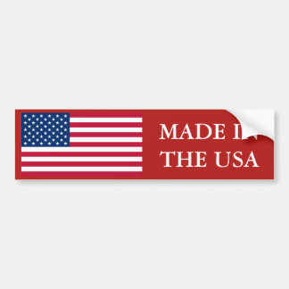 Made In The USA US Flag Bumper Sticker