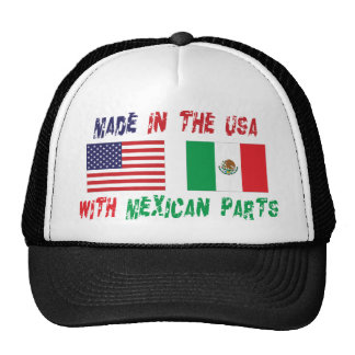 Made In The USA With Mexican Parts Woman s Mesh Hat