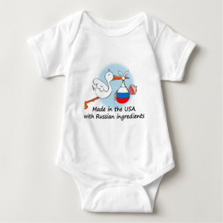 Made in the USA with Russian Ingredients Baby Bodysuit