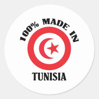 Made In Tunisia Classic Round Sticker