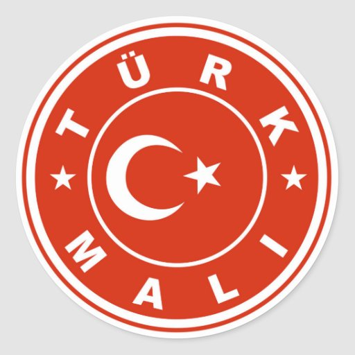 made in turkey country flag label turk mali round stickers