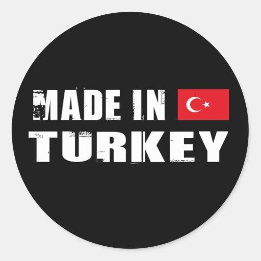 Made in Turkey Round Sticker