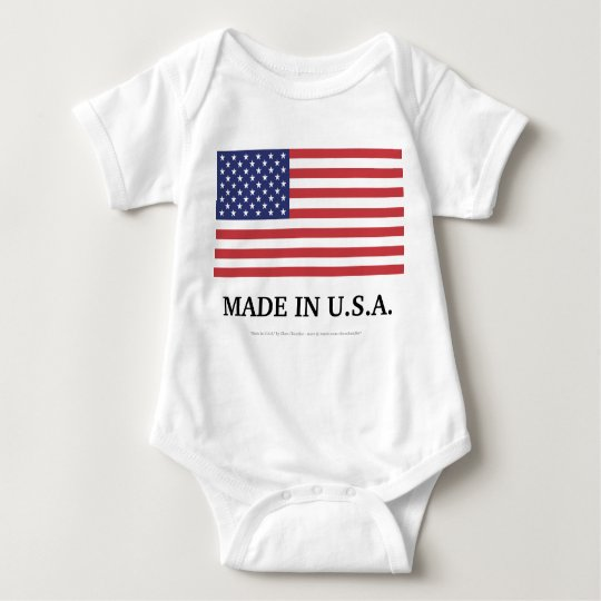 MADE IN U.S.A. BABY BODYSUIT
