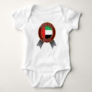 Made in UAE, Abstract UAE Flag, United Arab Emirat Baby Bodysuit