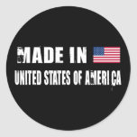 Made in United States of America Stickers