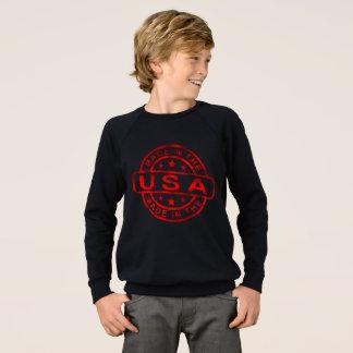 made in usa, america united states, red art sweatshirt