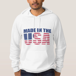 """Made in USA"" California Fleece Pullover Hoodie"