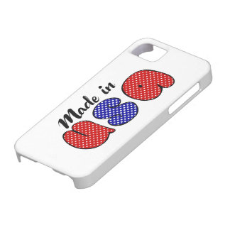"""Made in USA"" cute doode sign, patriotic Barely There iPhone 5 Case"