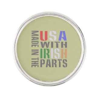 Made in USA Irish Parts Lapel Pin