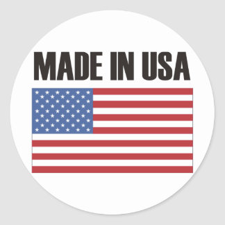 Made in USA Products & Designs! Round Sticker