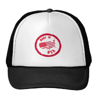 Made in USA rubber stamp design Mesh Hat