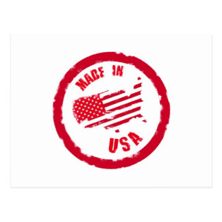 Made in USA rubber stamp design Postcard