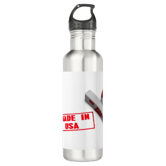 Made in USA Stamp or Chop on Paper Concept in 3d 710 Ml Water Bottle