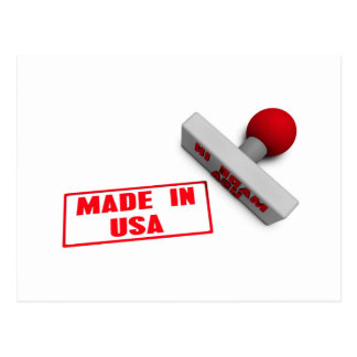 Made in USA Stamp or Chop on Paper Concept in 3d Postcard