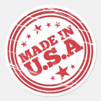Made in USA Stamp Round Sticker