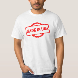 Made in USA stamp shirt