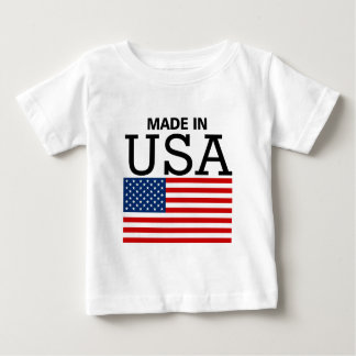 Made in USA US Flag Baby T-Shirt