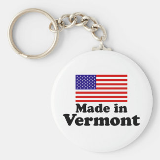 Made in Vermont Basic Round Button Key Ring