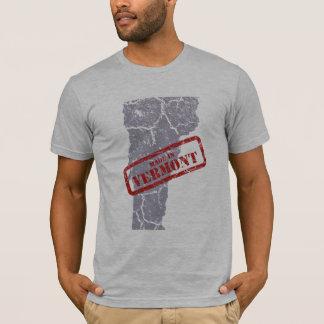 Made in Vermont Grunge Mens Grey T-shirt