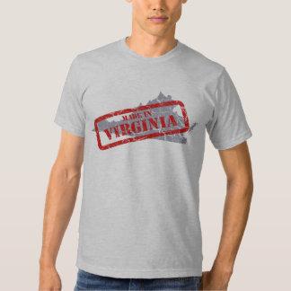 Made in Virginia Grunge Mens Grey T-shirt