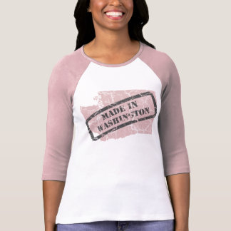 Made in Washington Grunge Ladies Pink Raglan Shirt