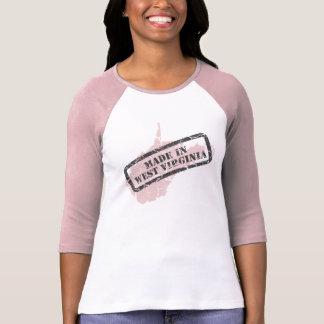 Made in West Virgina Grunge Ladies Pink Ragan Shirts
