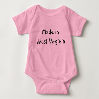 Made in West Virginia infant Creeper