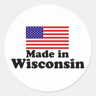 Made in Wisconsin Classic Round Sticker