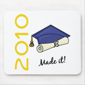 Made It Graduation Cap and Diploma Mousepads