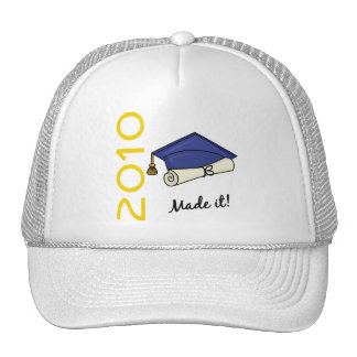 Made It Graduation Cap and Diploma Trucker Hats